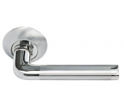 Дверная ручка MH-03 SN/CP (белый никель/полированный хром)