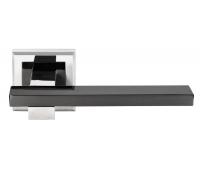 Дверная ручка DIY MH-38 SN/BN-S (белый никель/черный никель)