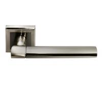 Дверная ручка DIY MH-21 SN/BN-S (белый никель/черный никель)
