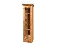 Шкаф-витрина «Элбург» БМ-1384 (левая, стеклянные полки)