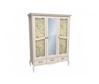 Шкаф для одежды «ЛеБо» (3-х дверный с стеклянными дверями)
